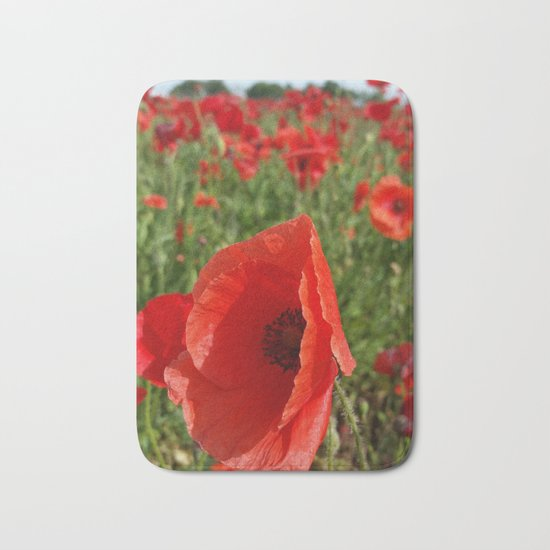 Poppy in a Field 3 Bath Mat