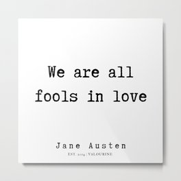 41    | Jane Austen Quotes | 190722 Metal Print