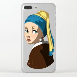 """The girl with the pearl earring"" Clear iPhone Case"