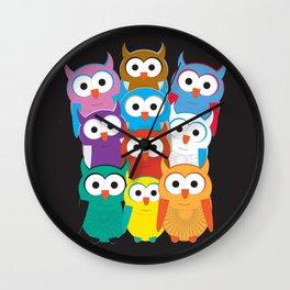 Huddle Up (Owls) Wall Clock