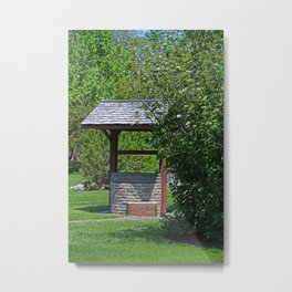 By the Wishing Well-vertical Metal Print