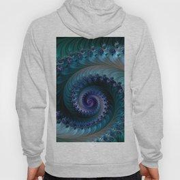 SPIRAL METALLIC BLUE Hoody
