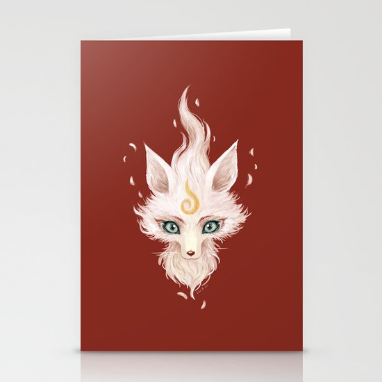 White Fox Stationery Cards