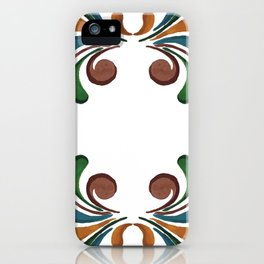 Colorful Watercolor Ornamental Pattern iPhone Case