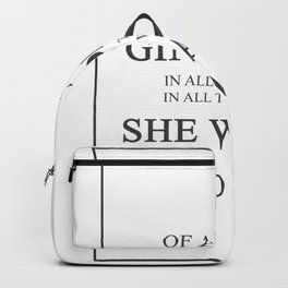 Of All The Gin Joints Rick Blaine Casablanca 432 W Backpack