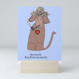 Love and a Dog Mini Art Print