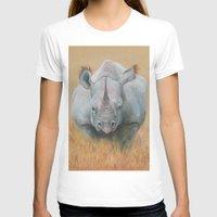 rhino T-shirts featuring RHINO by Canisart
