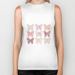 Mixed berry marble butterflies Biker Tank
