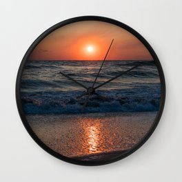 Canaveral Seashore Sunrise Wall Clock