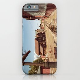 Siding Leading to Roundhouse Past Machine Shop East Broad Top Pennsylvania iPhone Case