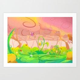 Lost in wonder Art Print