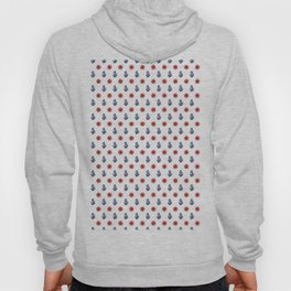 Maritime Seaside Beach Pattern - Anchors and Wheels - Mix & Match with Simplicity of life Hoody