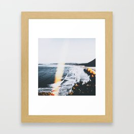 SEASCAPE BURN Framed Art Print