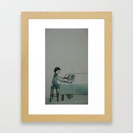 turn right Framed Art Print