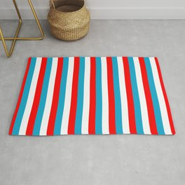 luxembourg flag stripes Rug