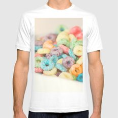 Fruit Loops White MEDIUM Mens Fitted Tee