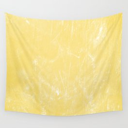 Flaxen Yellow Wall Tapestry