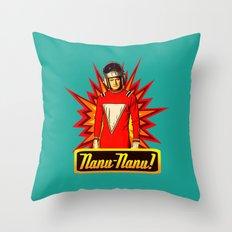Nanu Nanu  |  Mork  |  Robin Williams Tribute Throw Pillow