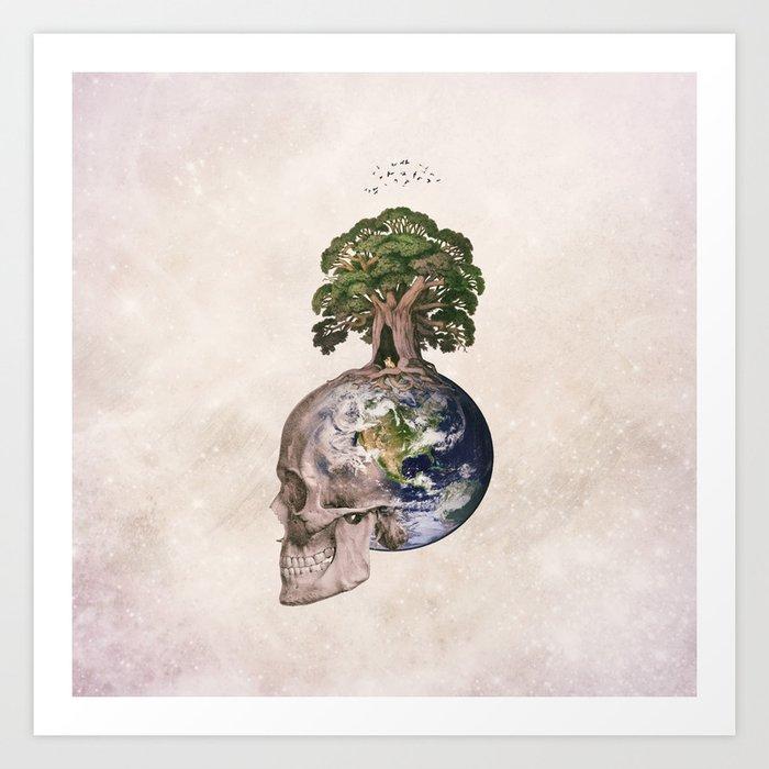 Life (Wandering Through Space) Art Print