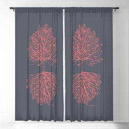 Tree Art. Hands Giving, Hands Receiving 111-24CW4 Blackout Curtain