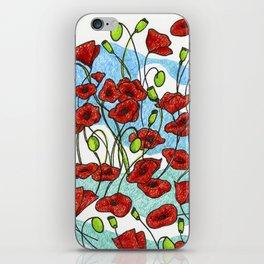 Field Poppies iPhone Skin