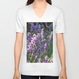 Bumblebee 10 on lavender ahem honey bee actually Unisex V-Neck