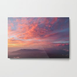Haleakala Summit Sunset Metal Print
