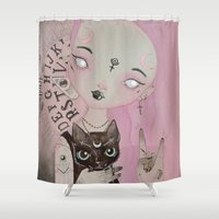 teen titans Shower Curtains featuring Teen Witch by lOll3