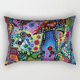 """""""Blue Candy Gloom"""" Rectangular Pillow"""
