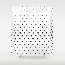 Dottie - black on white Shower Curtain