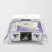 snowboarding Duvet Covers featuring Flying Sound by CrismanArt
