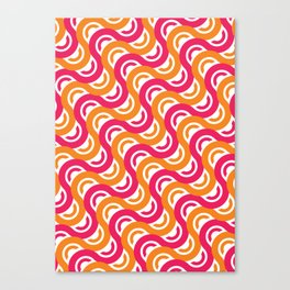 refresh curves and waves geometric pattern Canvas Print