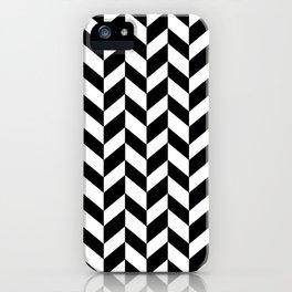 HERRINGBONE (BLACK & WHITE) iPhone Case