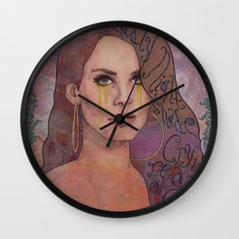 Lana - Deadly Nightshade Crying Tears Of Gold Wall Clock