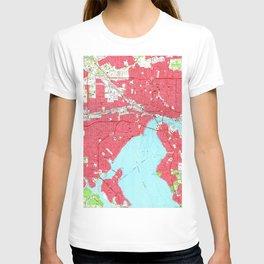 Vintage Map of Jacksonville Florida (1964) 2 T-shirt