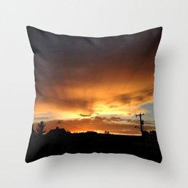 118 Ave, 95 st. Golden Sunset Throw Pillow