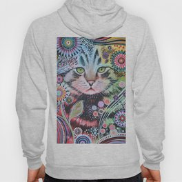 Abstract Cat Art - Penny Hoody