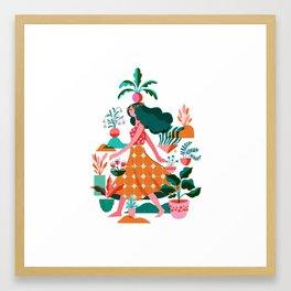 Garden Lady 1 Framed Art Print