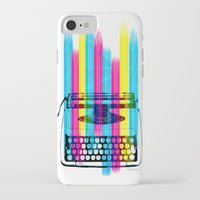 typewriter iPhone & iPod Cases featuring Typewriter by Elizabeth Cakovan