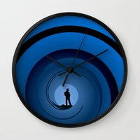 bond Wall Clocks featuring Bond Man by Steve Purnell