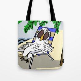 Beach Owl Tote Bag