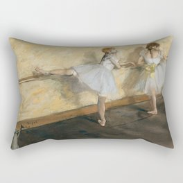 Edgar Degas - Dancers Practicing at the Barre Rectangular Pillow