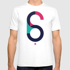S6 White Mens Fitted Tee MEDIUM