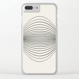 Geometric Orb - Black Clear iPhone Case
