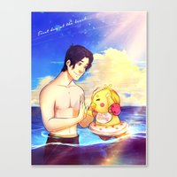markiplier Canvas Prints featuring Markiplier and Chica - Family Moments by Draw With Rydi