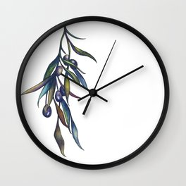 Olive Branch Wall Clock