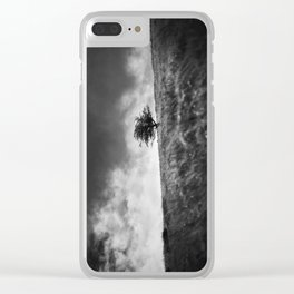 A single tree on Dartmoor. Clear iPhone Case