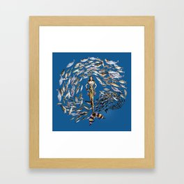 Mermaid in Monaco Framed Art Print