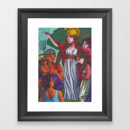 Wild Boadicea Appears Framed Art Print