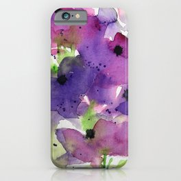 Purple Flowers in the Garden iPhone Case